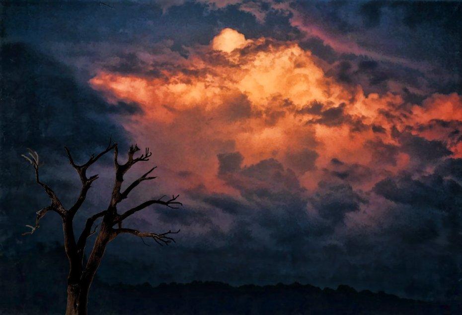 evening clouds after summer storm