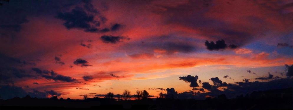 dramatic early fall sunset