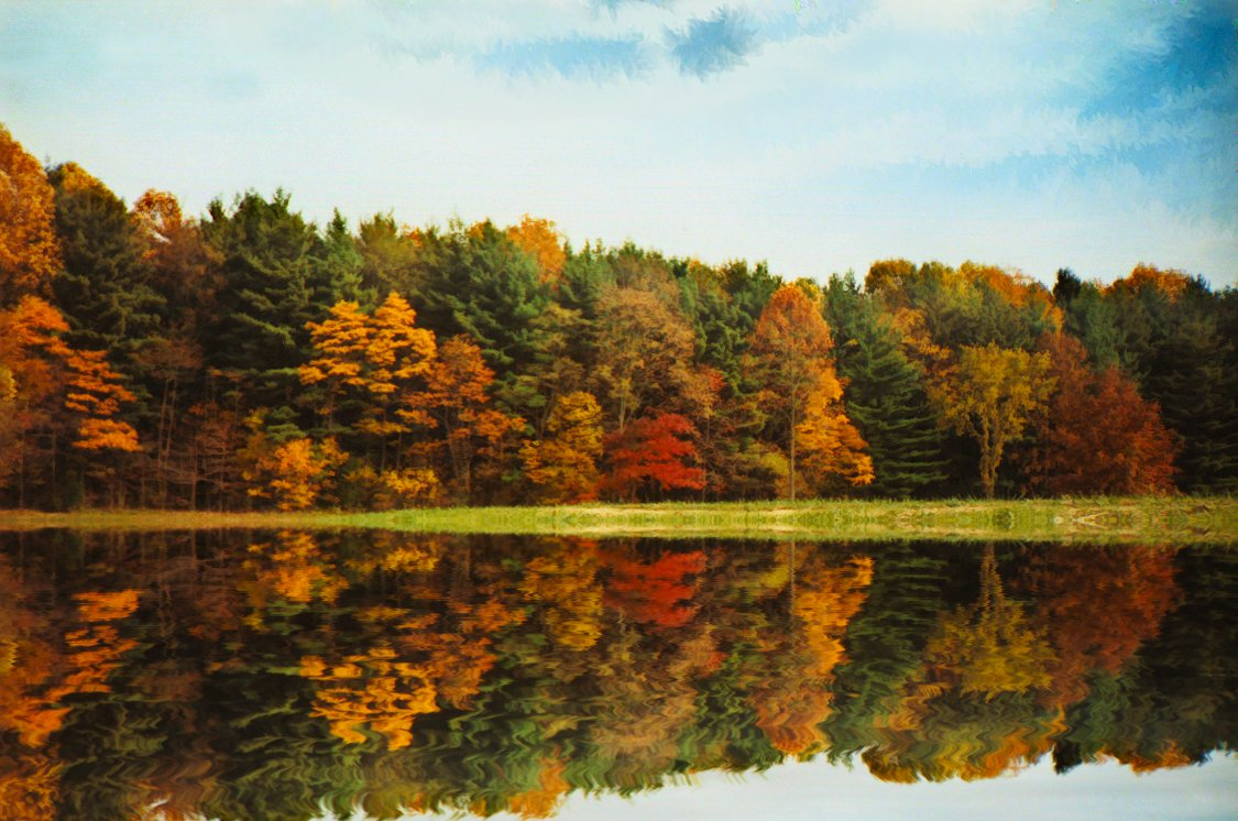 just another fall lake scene  u2013 under the sun and under the