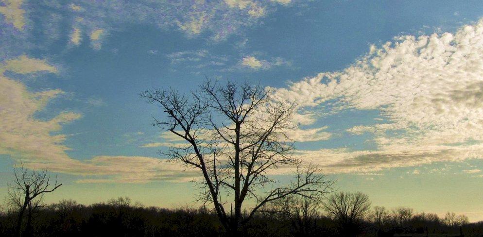 december sky near sunset