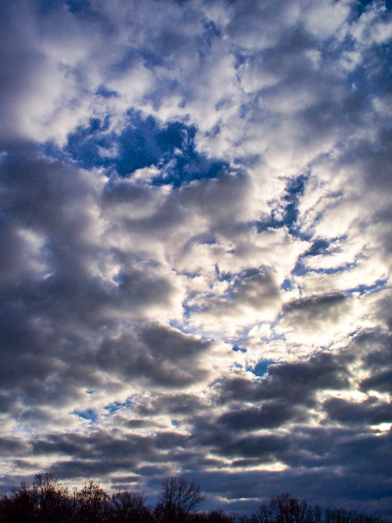 december sky and clouds