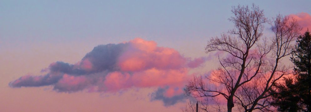evening clouds in january