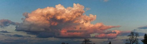big pink cloud in east