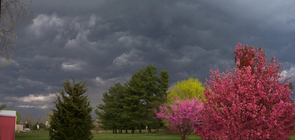 approaching spring storm