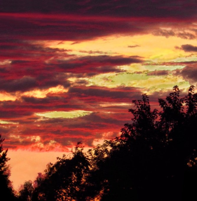 red august sunset