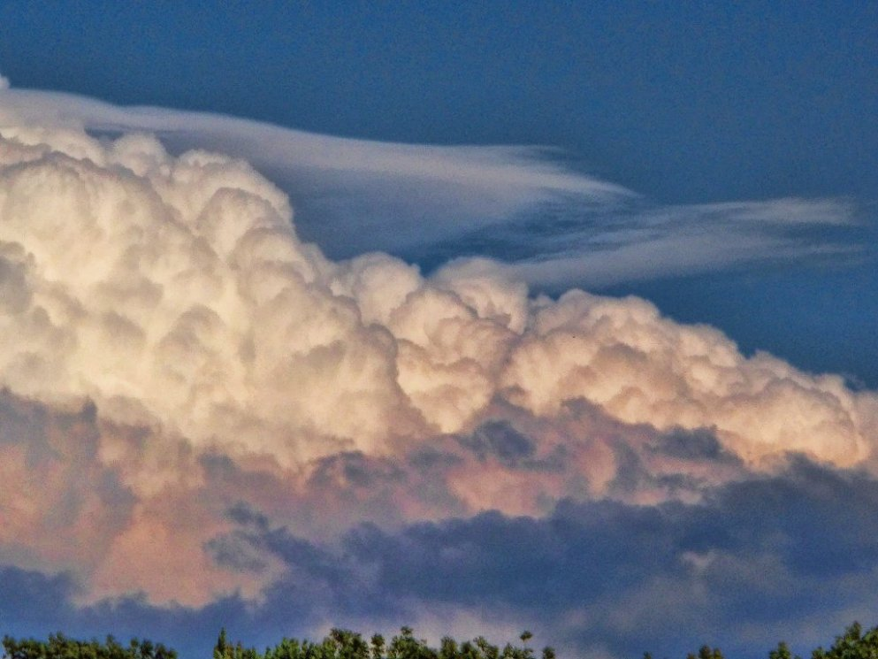 evening clouds in east