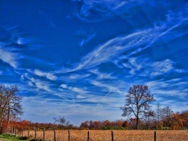 october morning sky