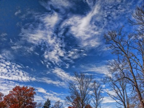late october sky