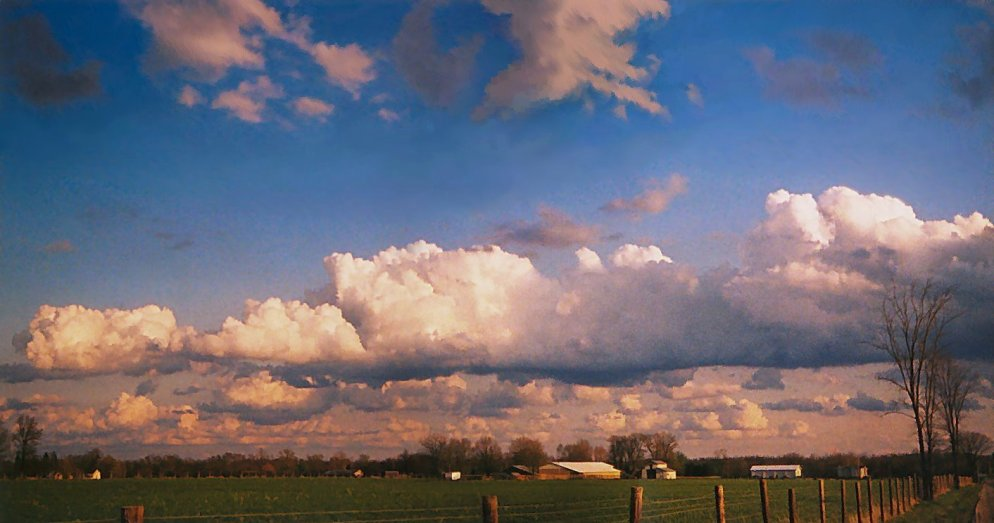 southeast sky, spring evening, southern indiana